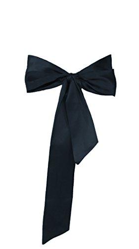 Dobelove Solid Color Satin Belt for Special Occasion Dress Bridal Sash (Black)