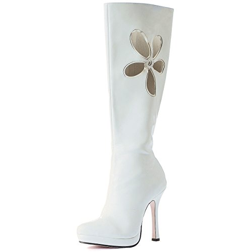 Lovechild White Adult Boots (LoveChild White Adult Costume Shoes - Size 10)