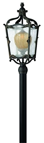Hinkley 1421AI Traditional One Light Post Top/ Pier Mount from Sorrento collection in Bronze/Darkfinish, (Sorrento Post)