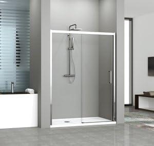 Mampara de ducha Kuadra 2P acceso de Face con un Panel fijo y un ...