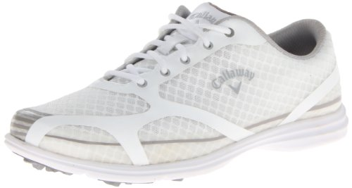 Callaway Women's Solaire Golf Shoe,White/Silver,7 M US