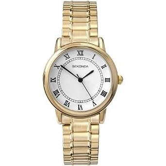 sekonda men s white dial gold tone watch 3021b amazon co uk watches sekonda men s white dial gold tone watch 3021b