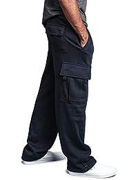 Men's Solid Fleece Heavyweight Cargo Pants