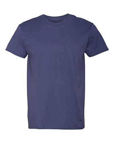 Hanes Herren Asymmetrischer T-Shirt xl Blau - Vintage Navy