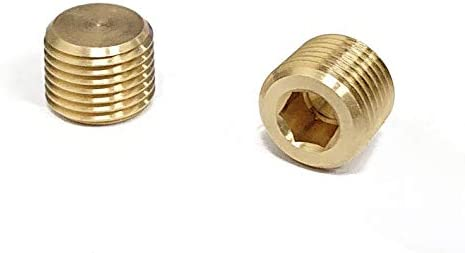 Pack of 5 Legines Brass NPT Plug 1//8 Male Hex Socket Drive Countersunk Plugs Pipe Fitting