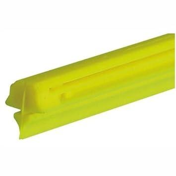Lampa 19016 - Gomas de recambio para limpiaparabrisas (silicona, 61 cm, adaptable), color amarillo: Amazon.es: Coche y moto