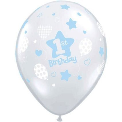 Boys First Birthday Latex Balloons (10) 1st