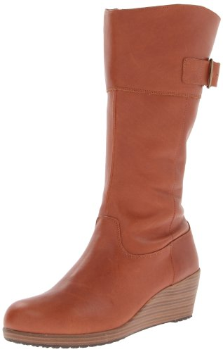 cinnamon leigh Crocs Femme Bottes Leather A Marron walnut W Boot 8aw5qSa