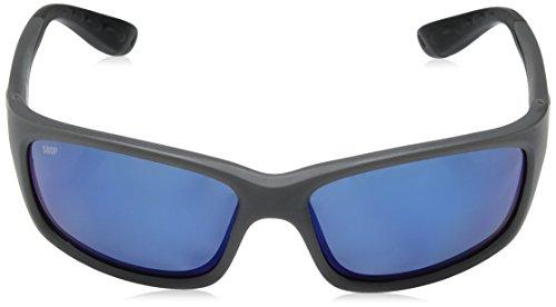 Neuf Costa DEL MAR JO 98Jose Gris mat rectangulaire Lunettes de soleil pour homme Frame: Matte Gray / Lens: Blue Mirror