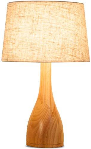 LCK Lámpara de escritorio, lámpara de mesa Madera maciza ...