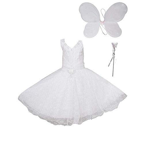 FOCIL Blended Baby Girl's White Angel Pari Dress (2-3 -