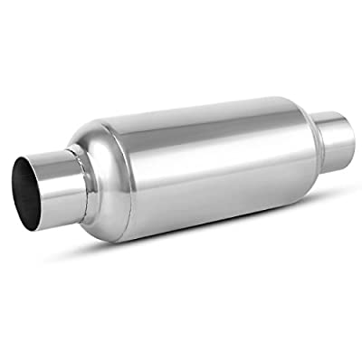 "2.5 Inch Inside Inlet Muffler, AUTOSAVER88 Universal Stainless Steel Welded Exhaust Muffler Deep Sound for Cars, 14"" Overall Length: Automotive"