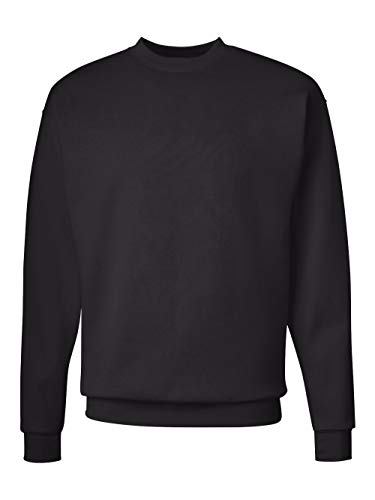 Classic Hooded Fleece Sweater - Hanes Men's Ecosmart Fleece Sweatshirt,Black,XL