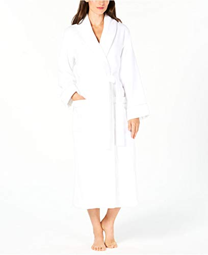 Charter Club Luxe Terry Piped Wrap Robe Bright White Size XX-Large ()