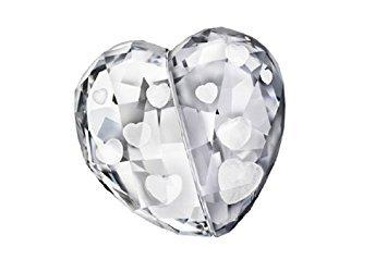 Swarovski Love Heart, Crystal Silver Shade, Medium Collectible Doll