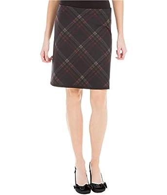 Max Studio London Womens Plaid Knee-Length A-Line Skirt