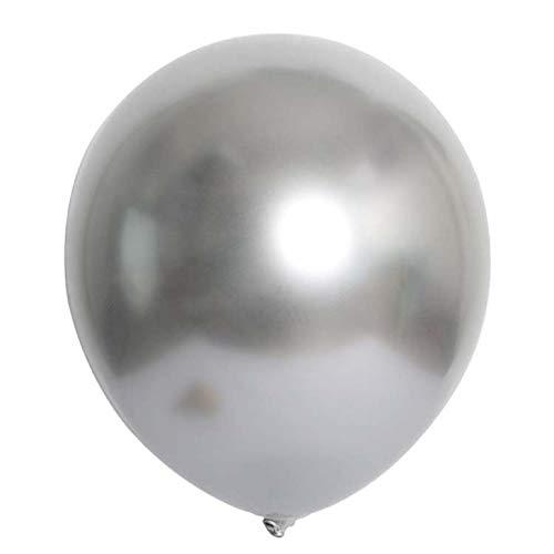 Royberry Balloons, 50Pcs Chrome Shiny Metallic Latex Balloons for Birthday Wedding Grad Party