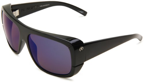 Electric Visual El Guapo ES09101665 Polarized Wrap Sunglasses,Gloss Black Frame/Ve Blue Lens,One - Electric Mens Sunglasses