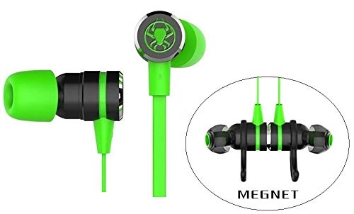 Granvela Gaming Earbuds, G20 Hammering Bass in Ear Gaming Headphones Noise Isolating Magnet Earphones with Mic and Volume Control for Xbox One,PS4, PC and MacBook. Cable Length 2.2M. (Green)