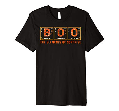 Halloween BOO Primary Elements of Surprise Science  Premium T-Shirt -