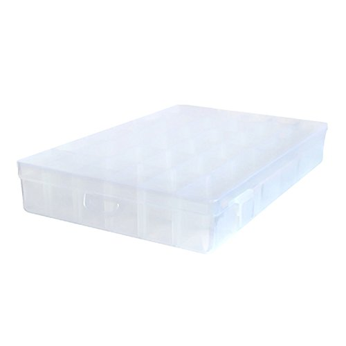 Kalevel 36 Grid Storage Box Clear Jewelry Organizer Display Case