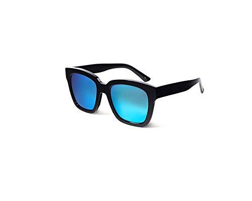 HongTeng Polarized Sunglasses Men Driving UV Protection Lady Retro Trend Street Shooting Travel Goggles (Color : Black Frame ice Blue Frame)