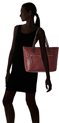 Rouge Fossil portés Shopper Damen Fiona Tasche Cabernet Sacs épaule qwCa0qr