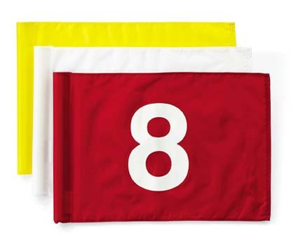 Tube-Style Numbered Golf Flags (Numbers 1-9) - Set of 9
