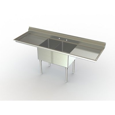 Economy NSF 99'' x 30'' Double Service Sink by Aero Manufacturing
