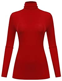 BIADANI Women Long Sleeve Turtleneck/V-Neck Pullover Sweaters Black