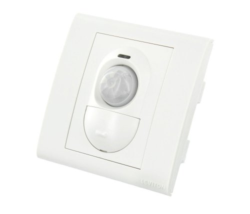 - Leviton PRR11-W Relay and Wall Switch Auto On/Off 500W 220-240v AC Wall Mount PIR Sensor, White