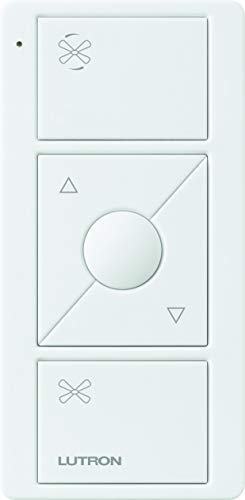 Lutron Pico Remote for Caseta Wireless Smart Fan Speed Control, PJ2-3BRL-WH-F01R, White by Lutron (Image #4)