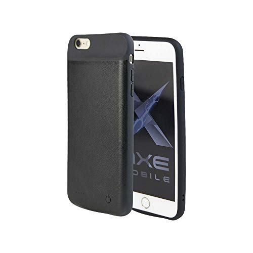 Axe Mobile - iPhone Qi Wireless Battery Charging Case, 2600/3800/4000 mAh for iPhone 6/7/8/X and 6/7/8 Plus, Portable Wireless Charging Case Extended Battery Pack (iPhone 7/8 (2600 mAh))