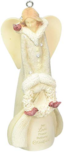 Enesco Christmas Angel Hanging Ornament, Multicolor