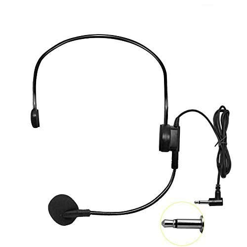 HUACAM Condenser Headset Microphone, Adjustable Sound Flexible Wired Boom (Standard 3.5 Plug Universal Rotating Microphone for Belt Pack Mic Systems (2 X Headset Microphone)