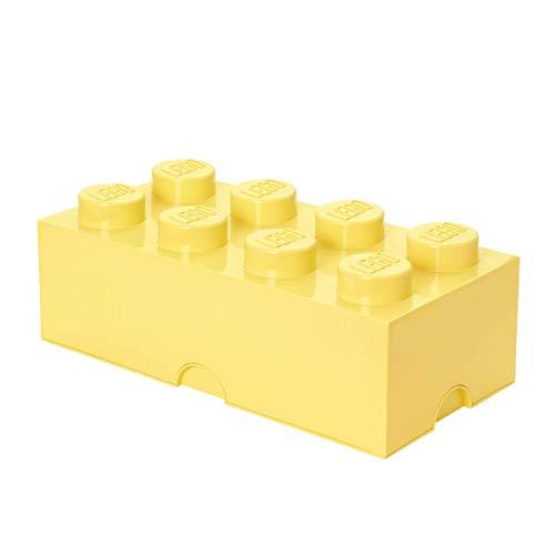 Room Copenhagen LEGO Storage Box Brick 8 DIF Cool Yellow, Large
