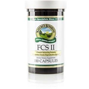 Naturessunshine FCS II w/Lobelia Female Reproductive System Support 100 Capsules (Pack of 2)