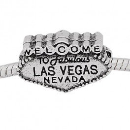 Buckets of Beads Welcome to Las Vegas Charm Bead (Bucket Welcome)