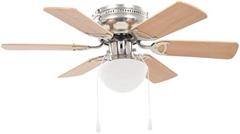 ghuanton Ventilador de Techo Adornado con lámpara 82 cm marrón claroCasa y jardín Electrodomésticos Control del Clima Ventiladores Ventiladores de Techo: Amazon.es: Hogar