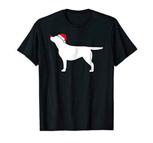 Yellow Labrador Dog Santa Hat Christmas T-Shirt ()