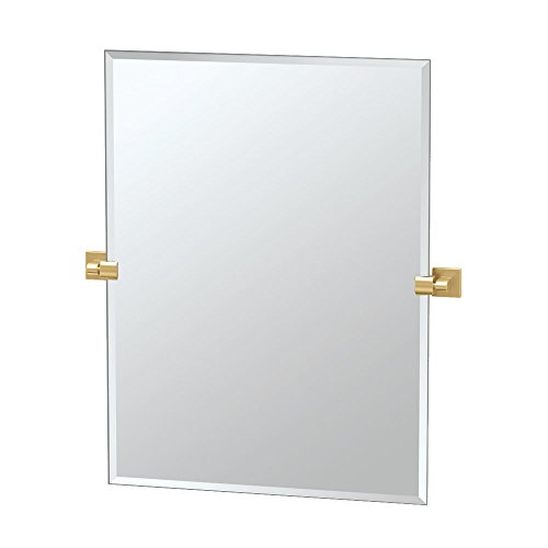 Gatco 4069S Elevate Rectangle Mirror, 31.5-inch, Brushed Brass