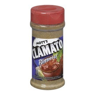 Imported Glass (Motts Clamato Rimmer Seasoning Salt for Rimming Glasses 200g/7.05oz {Imported from Canada})