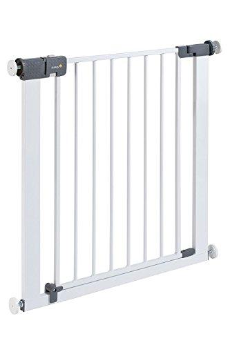 Safety 1st Quick Close ST Treppenschutzgitter, extra sicheres Metall-Türschutzgitter zum Klemmen, weiß, 73 - 80 cm, Möglichkeit der Verlängerung bis zu 136 cm verlängerbar (ab ca. 6 - 24 Monate)