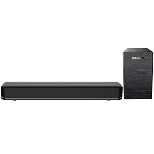 MindKoo Soundbar with Subwoofer Set - Sound Bar for TV with 2.1 Channel Speaker 3D Surround Sound Home Theater System, 3 EQ Modes, Touch or Remote Control, Bluetooth/Wired Connection (Surround 3d Sound System)