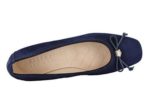 Hispanitas - Zapatos de vestir de Piel para mujer azul azul oscuro