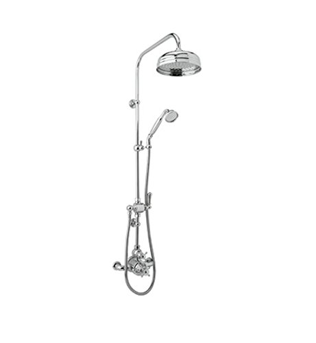 Georgian Era Thermostatic Shower (Rohl U.KIT61NLS-IB Special Order Only Non-Cancelable and Non-Returnable Kit Perrin & Rowe Georgian Era Thermostatic Shower Package with Metal Lever Handles, Inca Brass)