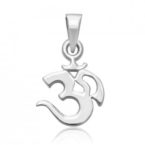 MIMI 925 Sterling Silver OM OHM AUM Charm Pendant