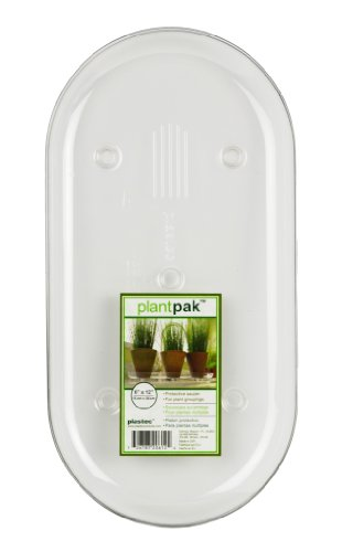 Plastec PLIPAK612 Oval Plantpak Saucer, Clear, 12-Inch (Pot Oval Plant)