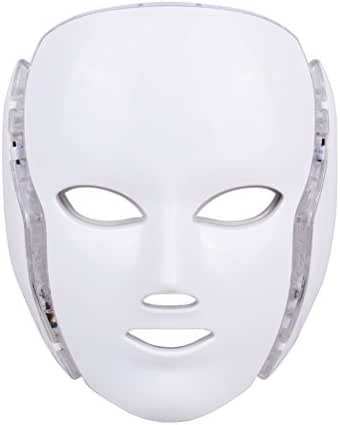 LED Photon Therapy, Frcolor Light Treatment 7 Colors Facial Beauty Skin Care Rejuvenation Phototherapy Mask Beauty Face Care for Home Use