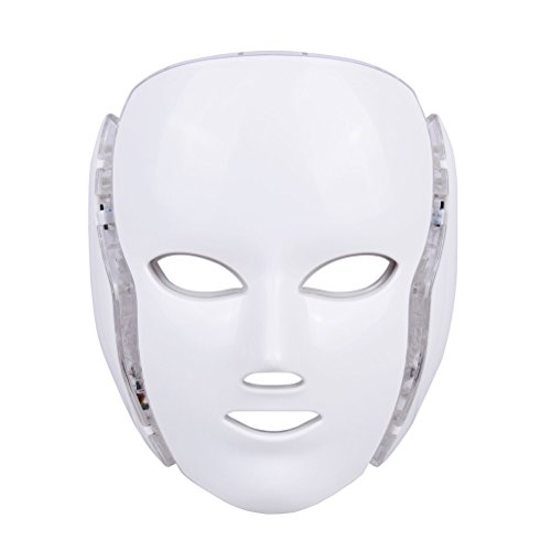 - LED Photon Therapy, Frcolor Light Treatment 7 Colors Facial Beauty Skin Care Rejuvenation Phototherapy Mask Beauty Face Care for Home Use